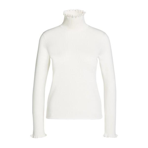 Женский свитер с рюшами