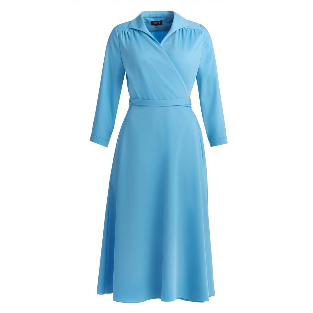 Женское платье с поясом