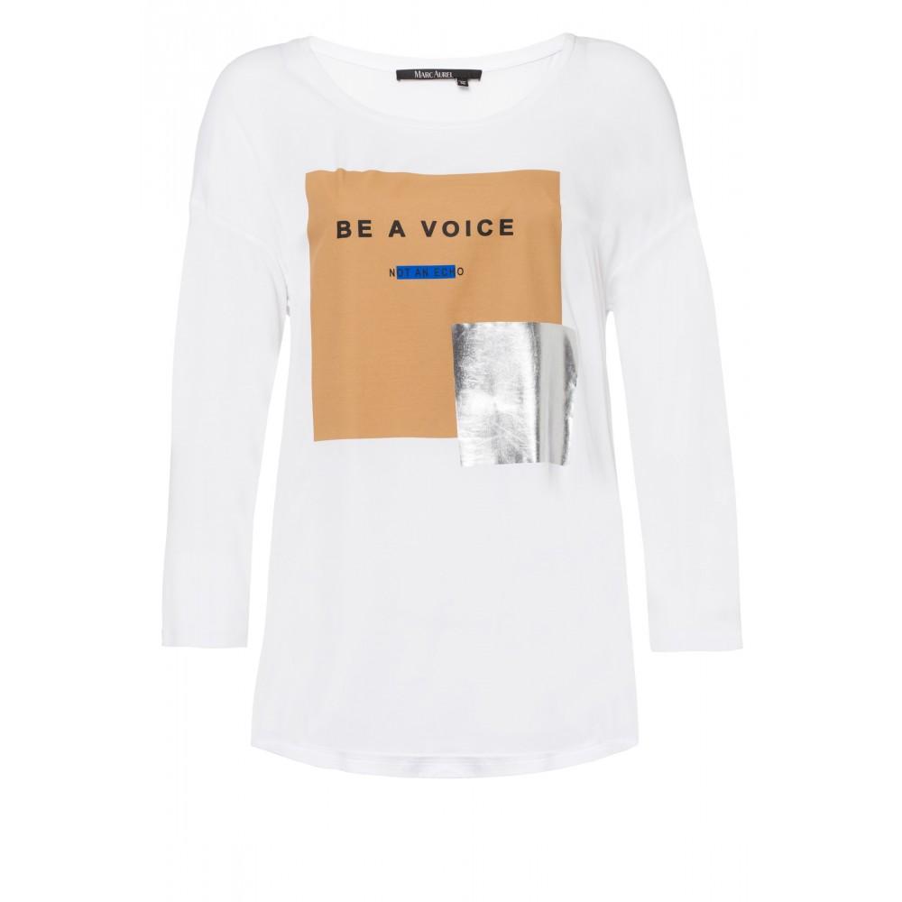 Женская футболка с металлическим принтом