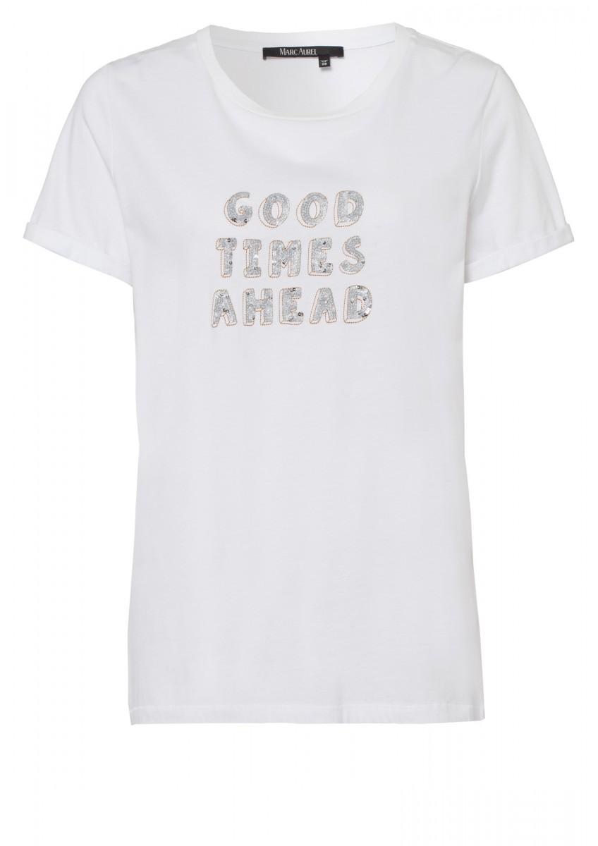 Женская футболка с металлическими блестками