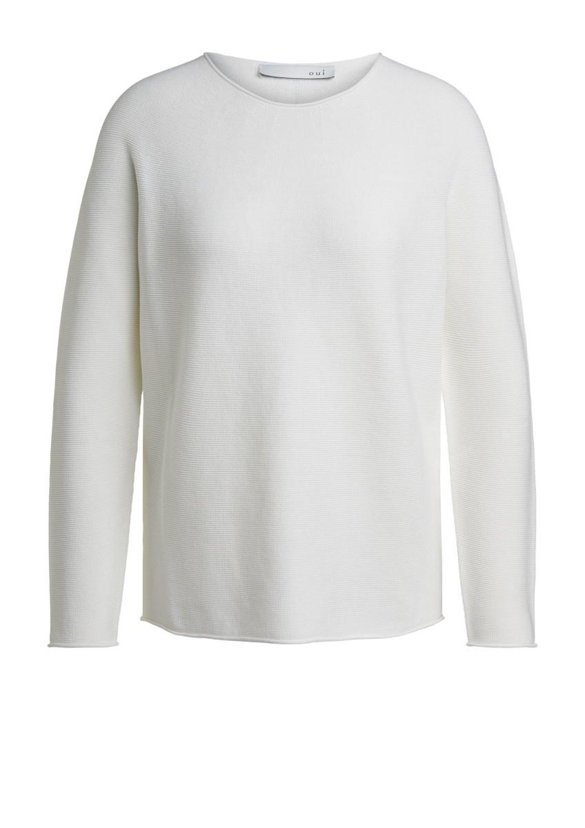 Женский вязаный пуловер оверсайз