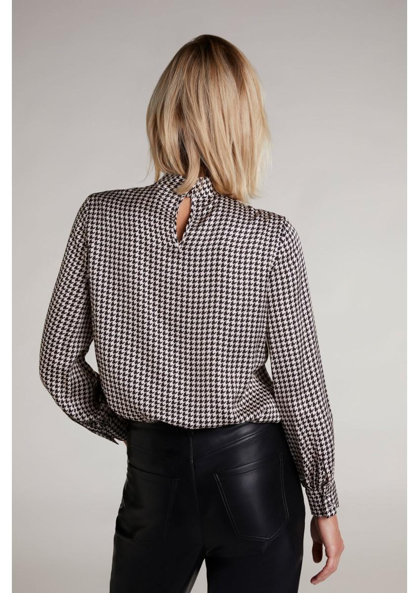 Женская блузка принт гусиная лапка