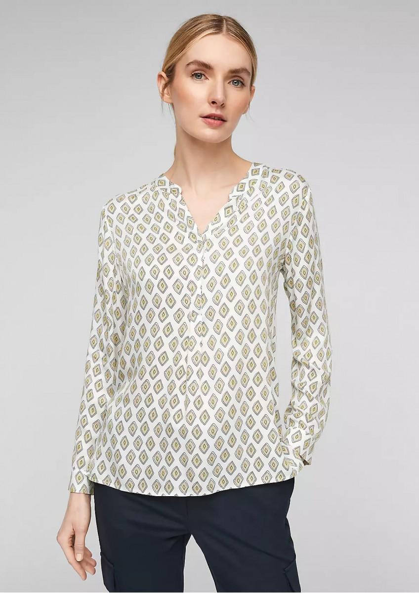 Женская атласная блузка