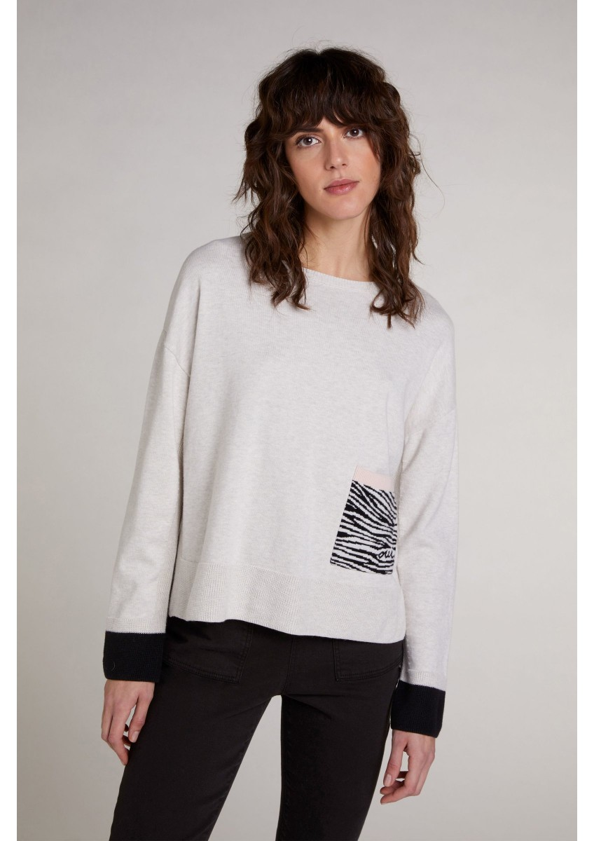 Женский свитер - принт зебра