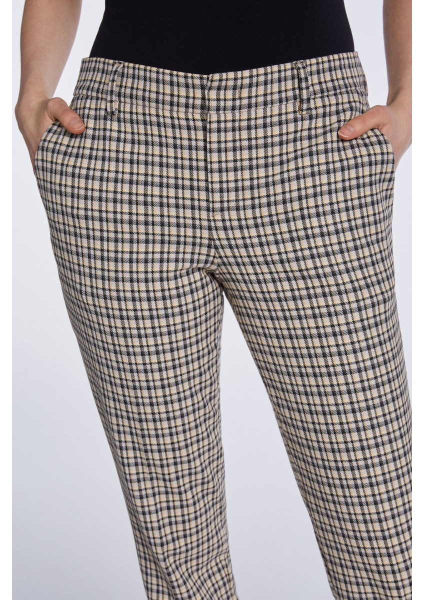 Женские брюки в клетку