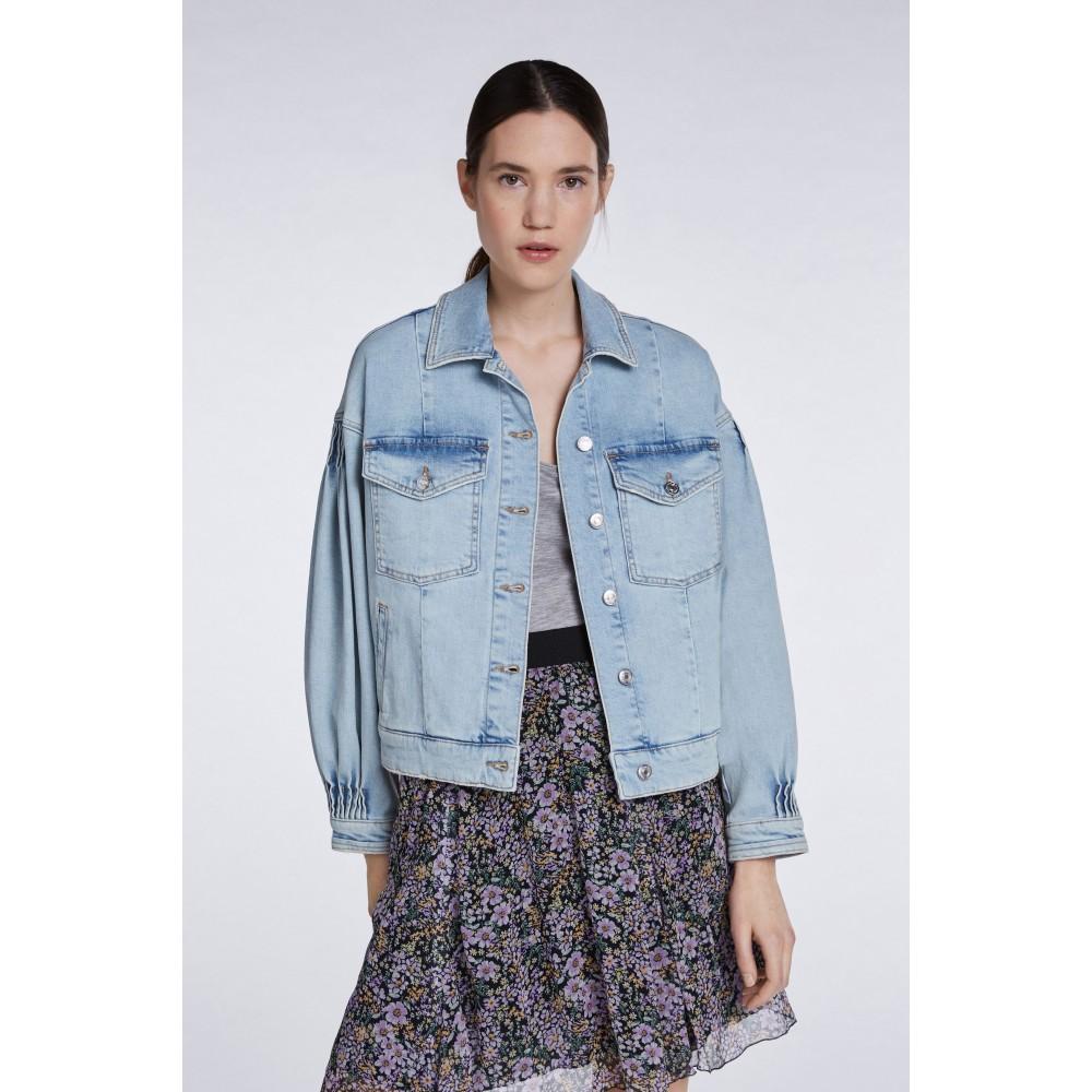 Женская джинсовая куртка оверсайз